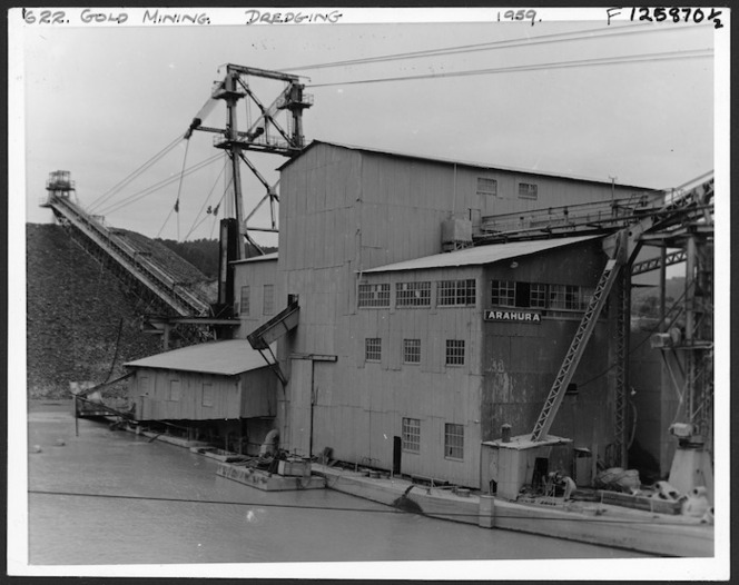 The Arahura gold dredge, Westland | Items | National Library