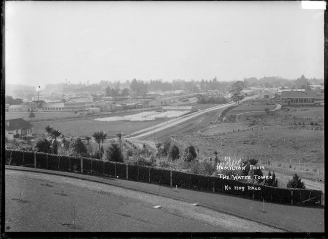 View of Hamilton, taken from the top of the water tower, circa 1910s