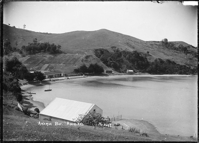 View of Pipitewai Bay in Awaawaroa Bay, Waiheke Island