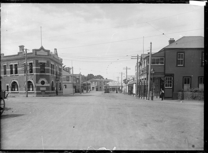 View of Sumner, near Christchurch, with the Sumner Public Library centre left