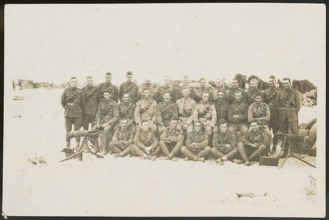 Group of New Zealand soldiers, Middle East