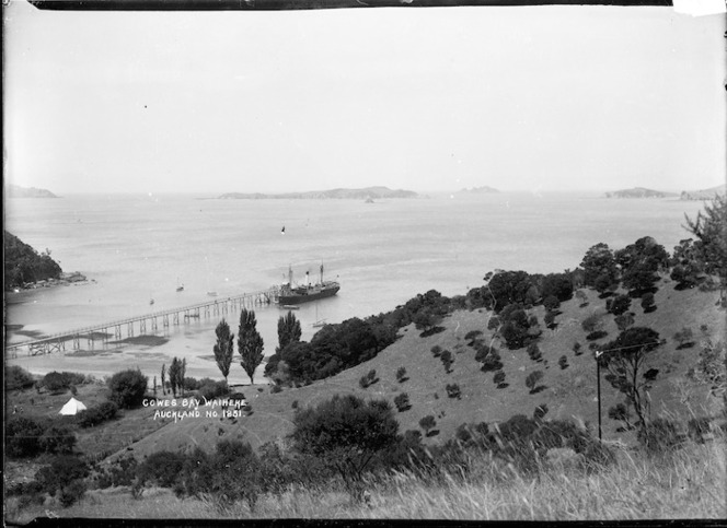 Ferry at the wharf, Cowes Bay, Waiheke Island