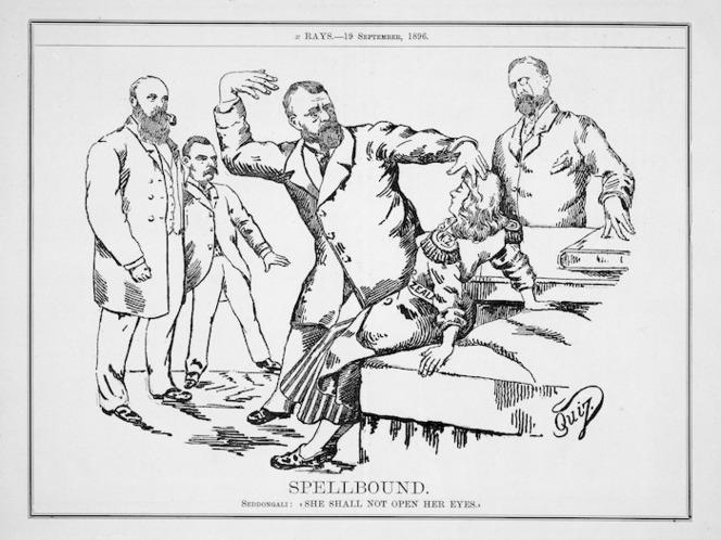 Quiz, fl 1896 :Spellbound. Xrays, Vol. 1, 19 September 1896.
