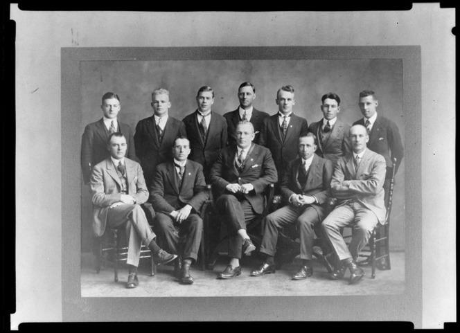Group portrait of King's College [teachers? staff?]