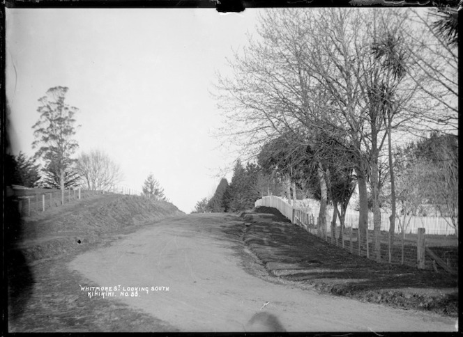 Whitmore Street, Kihikihi, looking south, circa 1912