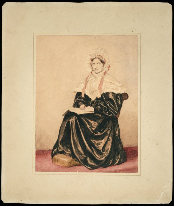 Phillips, Henry Wyndham, 1820-1868 :Lady Richardson. 1837. Copied for J G[?] Richardson by H W P, August 1841.