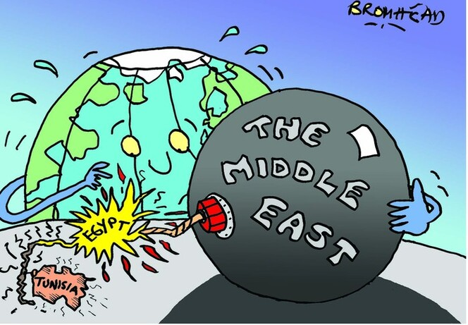 The Middle East. 31 January 2011