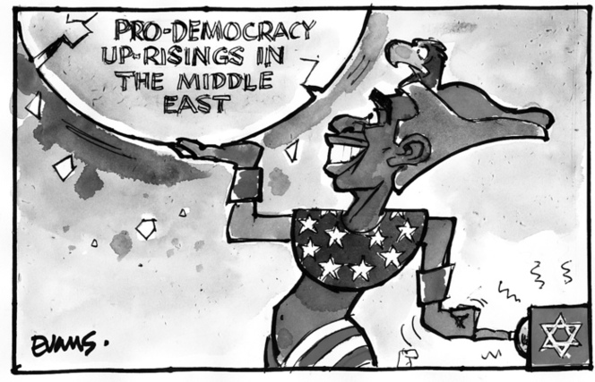 Pro-democracy up-risings in the Middle East. 31 January 2011