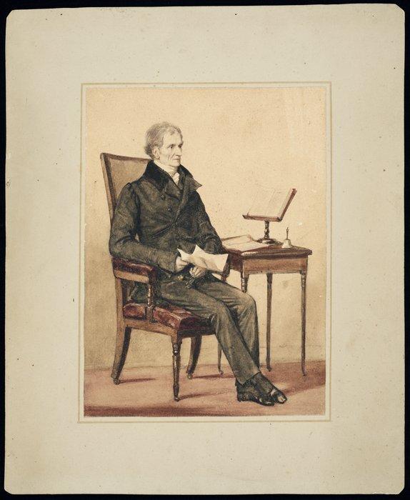 Phillips, Henry Wyndham, 1820-1868 :Sir J Richardson (Father of Sarah Harriet Richardson, G A Selwyn's wife) / Henry W Phillips, 1837.