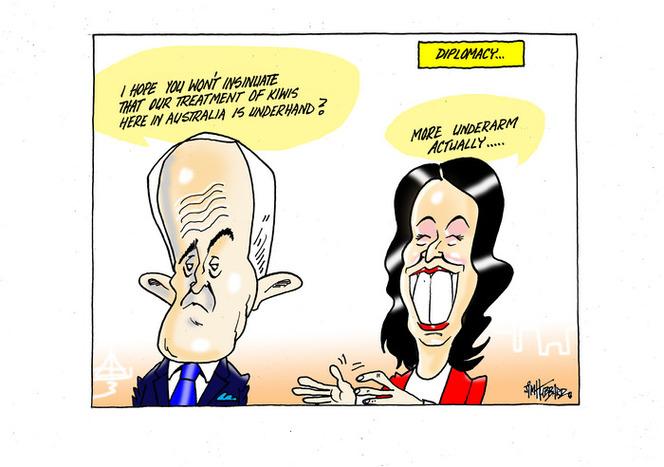Diplomacy - PM Jacinda Ardern comparing treatment of Kiwis in Australia to the 1982 underarm cricket incident when talking to Australian PM Malcom Turnbull