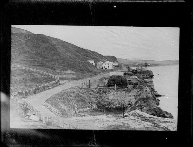 Taylorville, Red Lion Hotel, from base of Shakespeare Cliff, Whanganui