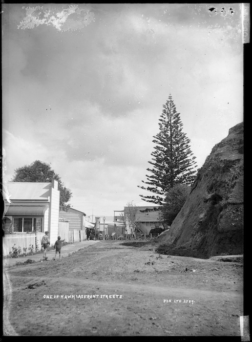 Street in Kawhia - Photograph taken by Jonathan Brothers