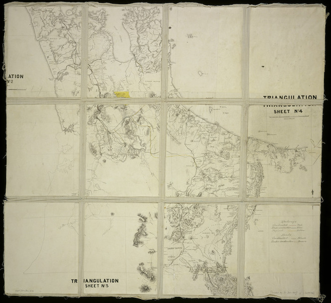 [Creator unknown]: [Map of railways and roads from Auckland to Taupo] [map with ms annotations].