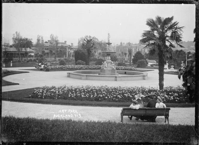 The fountain in Albert Park, Auckland