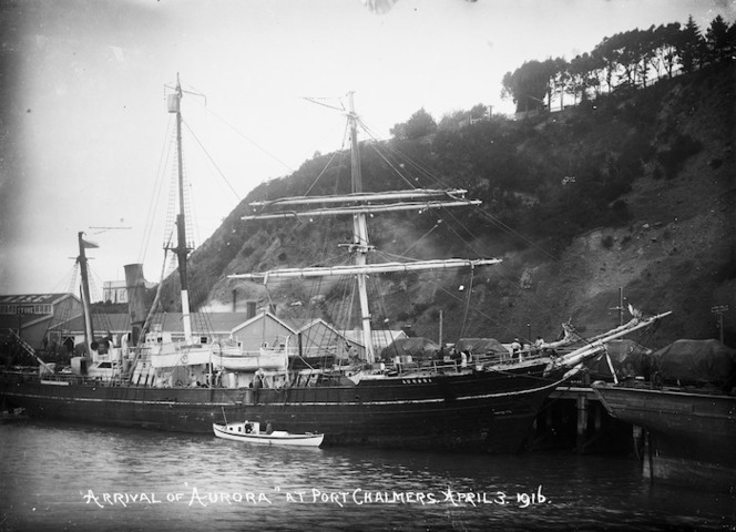 The ship Aurora at Port Chalmers