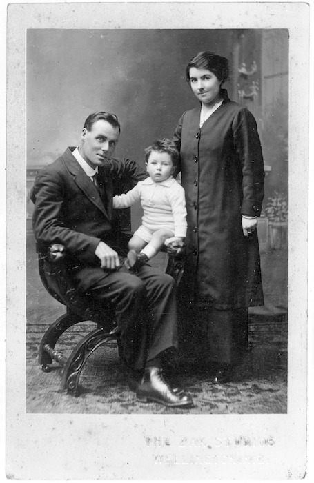 Patrick Hodgens Hickey, Rose Rogers, and their son