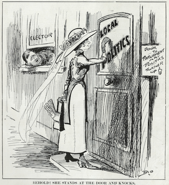 1913 cartoon about women getting into politics