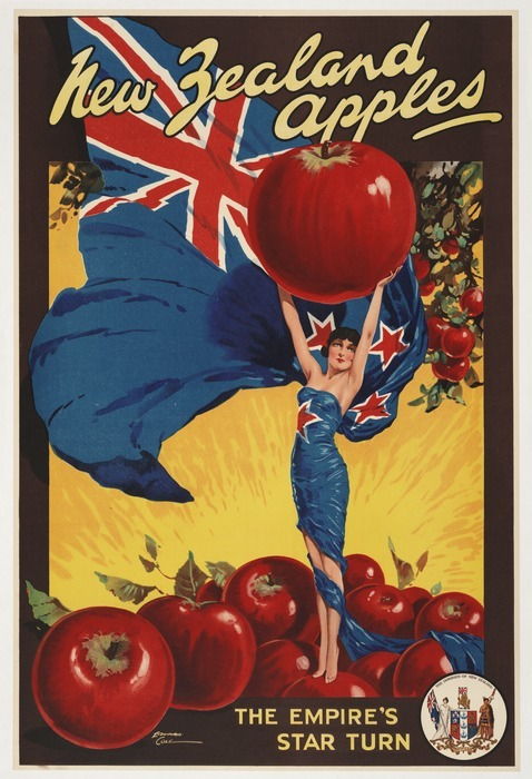Cole, Edward, fl 1930s :New Zealand apples, the Empire's star turn. The Dominion of New Zealand [1930s?]