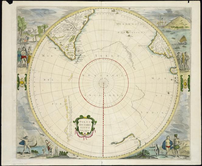 Polus Antarcticus [cartographic material] / Ioannes Ianssonius excudit.