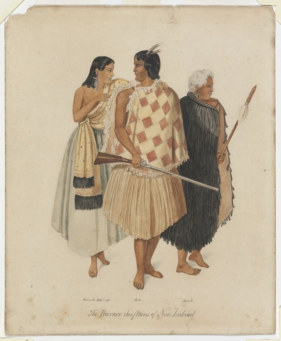 [Merrett, Joseph Jenner] 1815-1854 :The warrior chieftains of New Zealand. [1846]