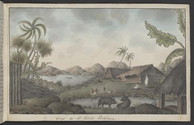 Artist unknown: Gesigt op het Eiland Rotterdam [October 1773. Copied ca 1785]