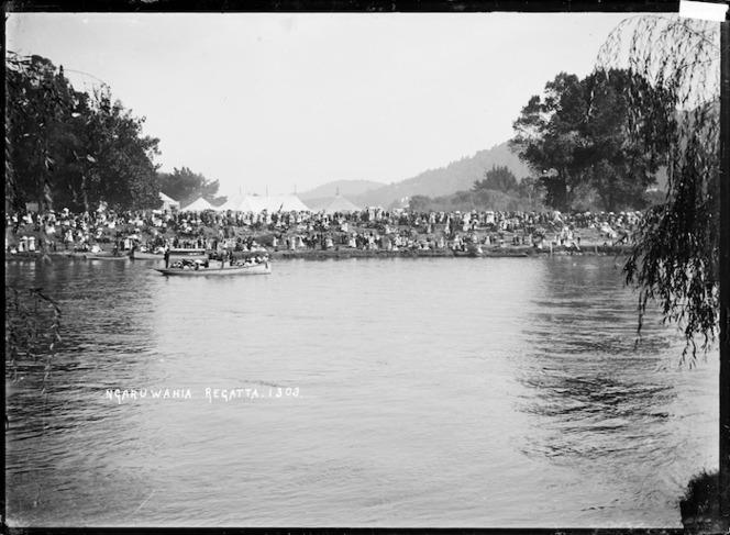 Regatta on the Waikato River at Ngaruawahia, circa 1910