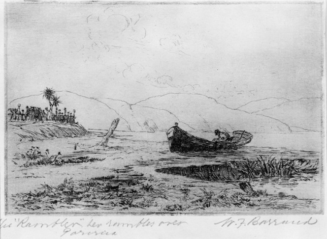 "Barraud, William Francis 1850-1926 :The ""Rambler"" her rambles over, Porirua / W. F. Barraud"
