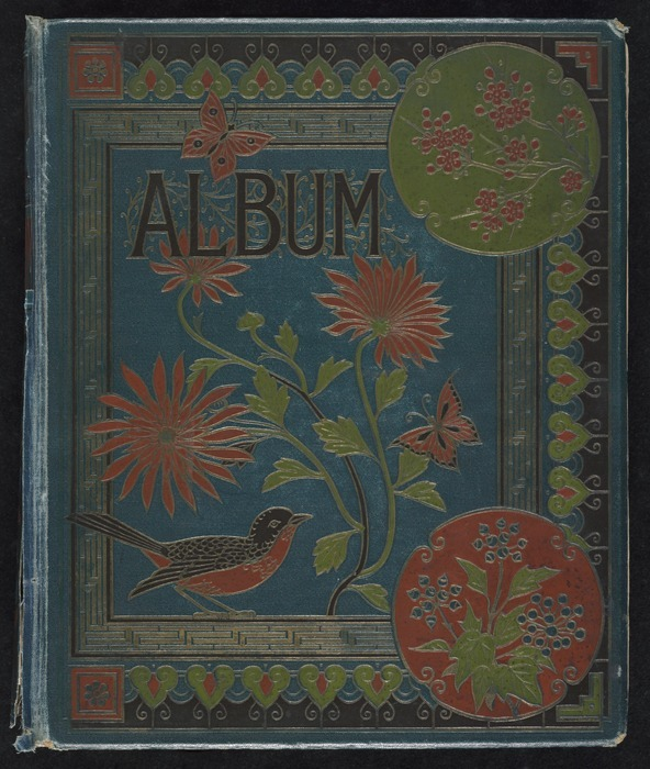 Hodgkins family :[Album of sketches. 1880s. Front cover]