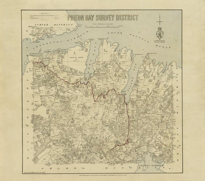 Pigeon Bay Survey District [electronic resource] / drawn by H.McCardell, June 1889.