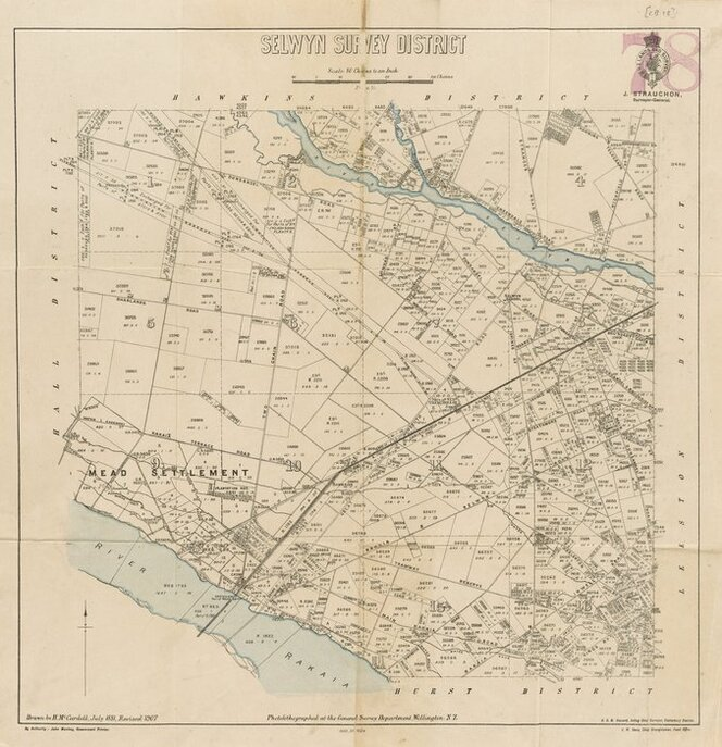 Selwyn Survey District [electronic resource] / drawn by H. McCardell, July 1881.