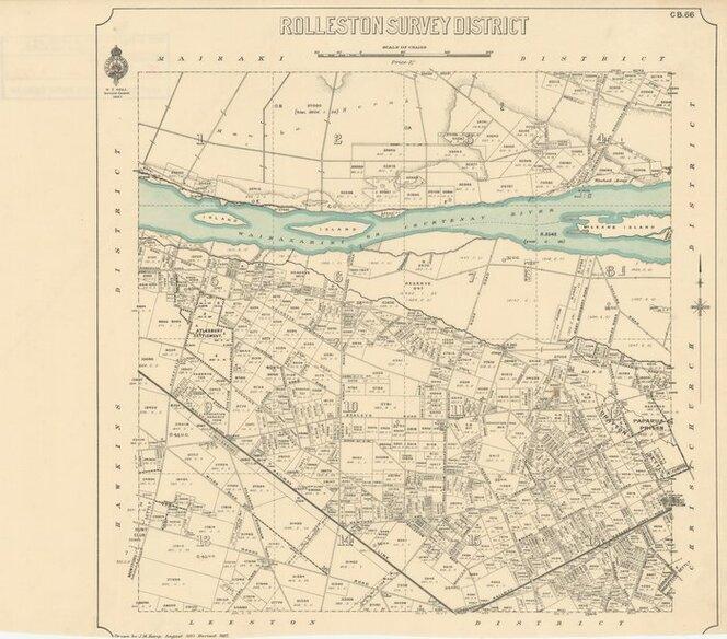 Rolleston Survey District [electronic resource] / drawn by J.M. Kemp, August 1887.