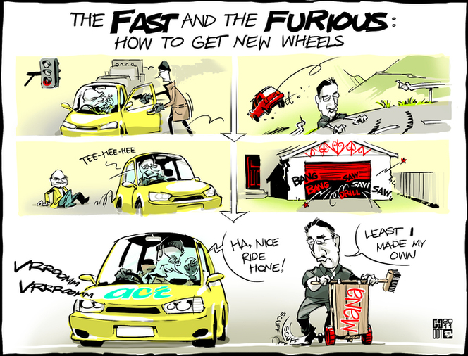 Smith, Hayden James, 1976- : The FAST and the FURIOUS - how to get new wheels. 4 May 2011