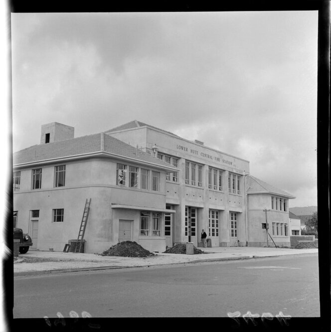 Lower Hutt Central Fire Station, under construction