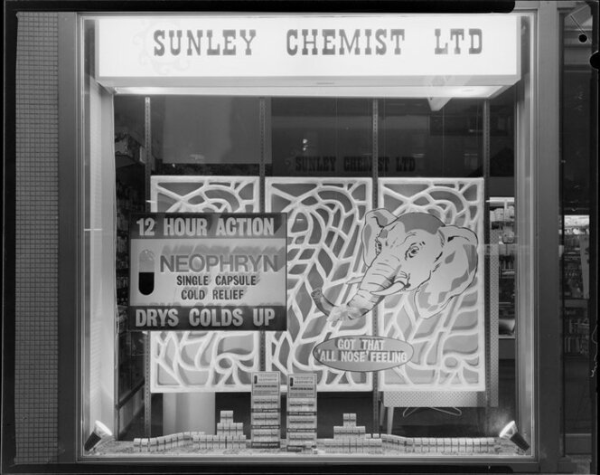Shot of Sunley Chemist Window