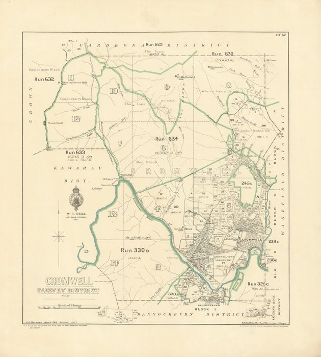Map Of Cromwell New Zealand.Cromwell Survey District Electronic Items National Library