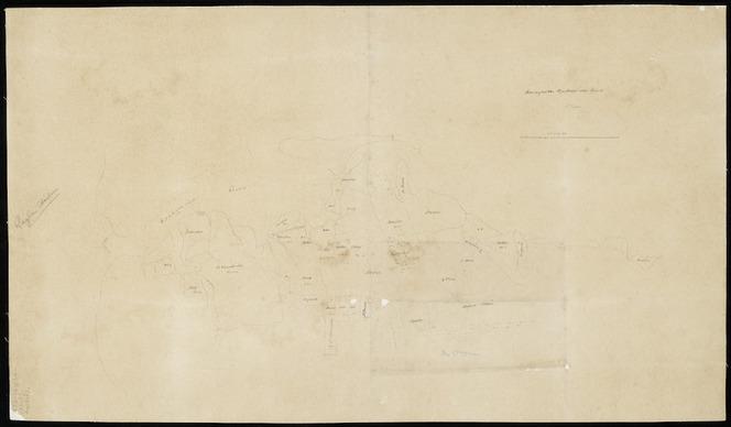 Hogan, Patrick Joseph 1804-1878 :Waingaroa Harbour and track [ms map]. [by] P J Hogan. [185-?]