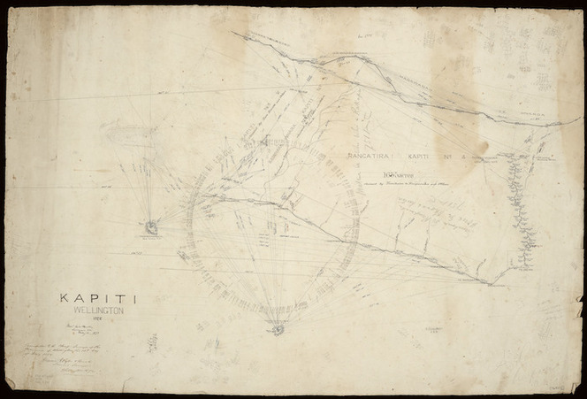 Wyles & Buck (Surveyors) :Kapiti, Wellington, 1872 [ms map]. Messrs Wyles & Buck, surveyors etc., Wellington, 1872