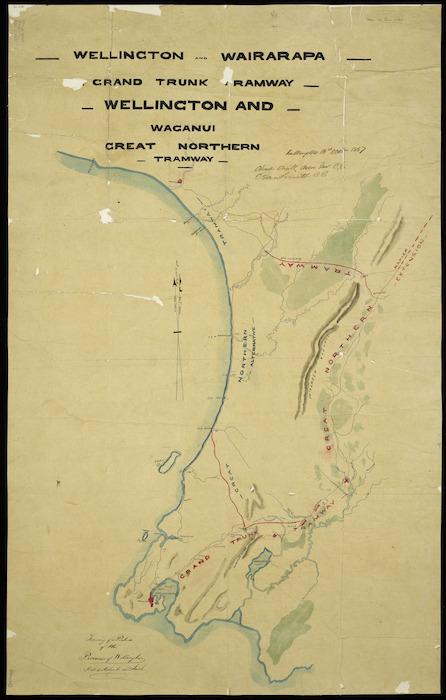 Wairarapa New Zealand Map.O 39 Neill Charles Gordon 1827 1900 Items National