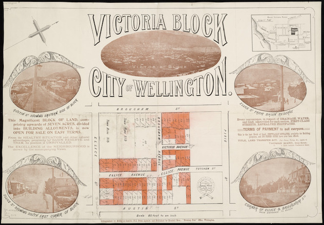 Victoria block, city of Wellington [cartographic material] / Thomas Ward, surveyor.