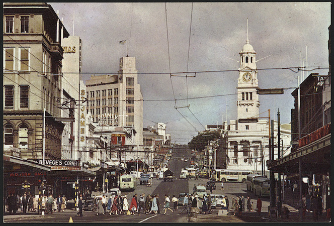 Auckland Town Hall and Upper Queen Street