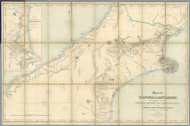 Map Of Canterbury New Zealand.Map Of The Province Of Canterbury Ne Items National Library