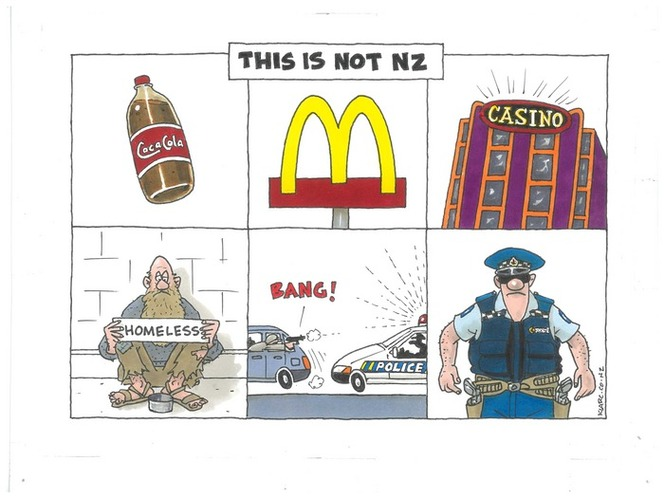 Christchurch shooting - American culture - arming the police