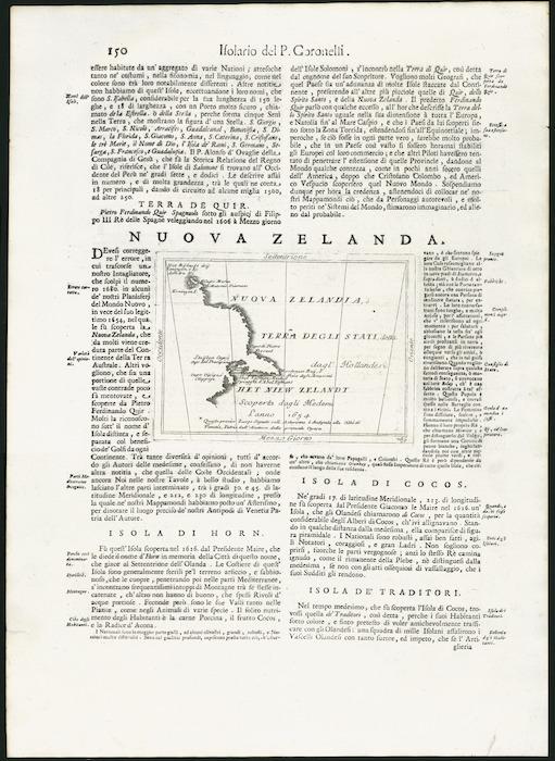 Nuova Zelanda [cartographic material] / P. Coronelli.