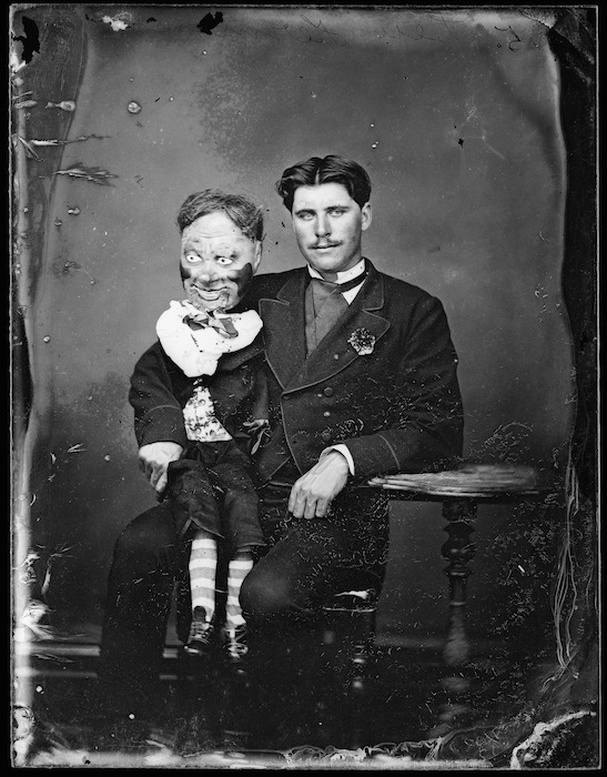 Lieutenant Herman with his ventriloquist dummy