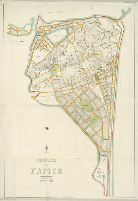 Borough of Napier [cartographic material].
