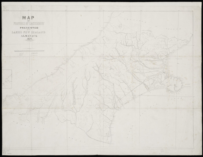 Map Of Canterbury New Zealand.Map Of Province Of Canterbury New Ze Items National Library