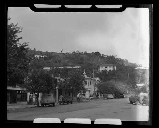 View up the street, towards the Post Office, Port Moresby, Papua New Guinea