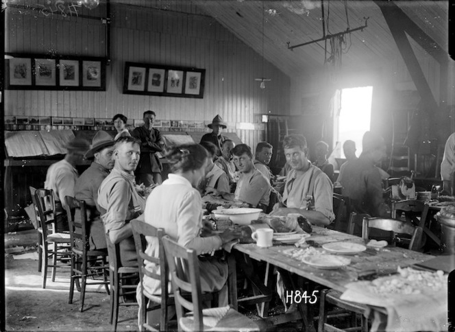 Women voluntary workers in the Lowry Hut at the New Zealand Infantry and General Base Depot, Etaples
