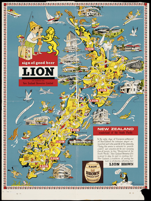 New Zealand [cartographic material] : wonderland of the South Pacific.