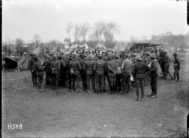 Soldiers playing the gambling game Two-up in France